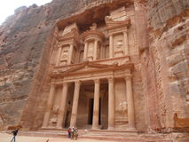 Treasury Building. Petra Treasury Building, Ancient wonder of the world Royalty Free Stock Images