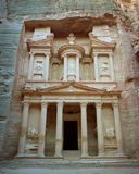The Treasury Building of Petra, Jordan stock images