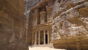The Treasury in the canyons of Petra