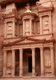 The Treasury at the city of Petra. In Jordania Stock Photography