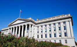 The Treasury Department. View of the The Treasury Department, a landmark building in Washington, DC Royalty Free Stock Image