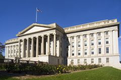 Treasury Department building Stock Photo