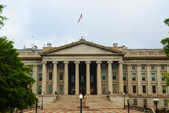 The treasury department building in Washington, DC Royalty Free Stock Image