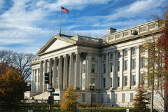 Treasury Department Building in Washington DC Royalty Free Stock Photos