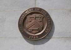 Treasury Department logo Royalty Free Stock Photography