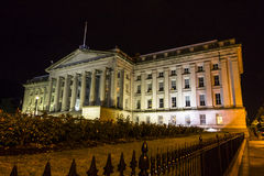 Treasury Department at night Royalty Free Stock Image