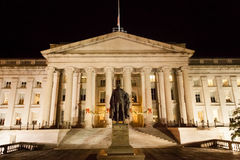 Treasury Department at Night Royalty Free Stock Images
