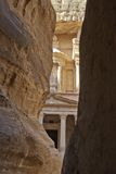 Treasury facade in Petra Royalty Free Stock Photo