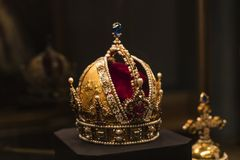 Treasury of the Habsburg dynasty Museum Hofburg palace in Vienna Austria. VIENNA, AUSTRIA - 3 SEPTEMBER 2018, : Treasury of the Habsburg dynasty Museum Hofburg royalty free stock image