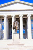 Treasury and Hamilton Statue, Washington DC Stock Images