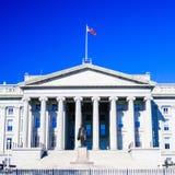 Treasury and Hamilton Statue, Washington DC Royalty Free Stock Photos