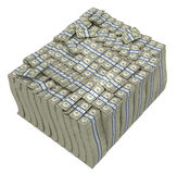 Treasury. Huge bundle of US dollars. Isolated stock illustration