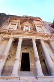 The Treasury Monument in antique city Petra Royalty Free Stock Photos