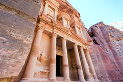 Treasury Monument in antique city Petra Royalty Free Stock Photography