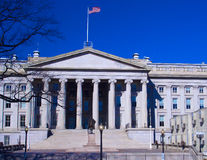 Treasury and monument of Hamilton, Washington DC Stock Image