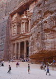 Treasury monument at Petra stock image
