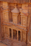 Treasury, Petra. Jordan. top view Stock Images