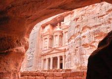 The treasury at Petra. (Jordan Royalty Free Stock Photography