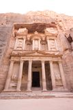 The Treasury at Petra. Jordan - one of the seven new wonders of the world Royalty Free Stock Images