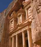 The Treasury, Petra. Famous Jordanian landmark stock photography