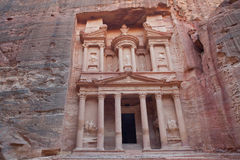 The treasury of Petra ancient city, Jordan Stock Images