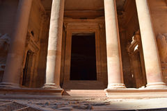 The Treasury. Of Petra ancient city, Jordan royalty free stock photos