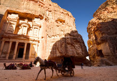The Treasury, Petra Stock Photos