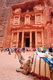 Treasury in Petra, Jordan Royalty Free Stock Photography