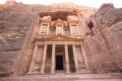 The Treasury at Petra Jordan. The Treasury at Petra, Jordan - one of the seven new wonders of the world Stock Images