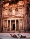 Treasury in Petra Jordan Stock Photography
