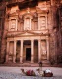 Treasury in Petra Jordan. Ancient Treasury in Petra Jordan Stock Photography