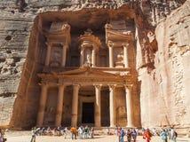 The Treasury. Petra. Jordan Royalty Free Stock Photo