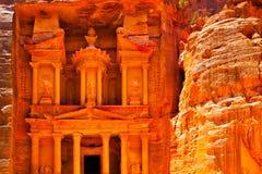 Treasury temple - Al-Khazneh royalty free stock image