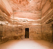 Treasury temple inside detail in Petra Royalty Free Stock Photos