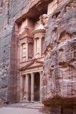 Treasury temple in Petra, Jordan Stock Photography