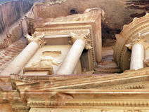Treasury tomb in Petra. Stock Images