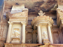 Treasury tomb in Petra. Royalty Free Stock Image