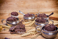 Treat for enjoyment - chocolate muffins Royalty Free Stock Images