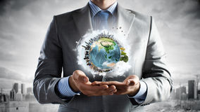 Treat our planet with love Stock Image
