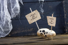 Treat or trick ghost champignons Stock Images