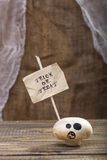 Treat or trick Halloween champignon Royalty Free Stock Images