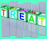 Treat Word Mean Special Occurrence Or Gift Stock Photo