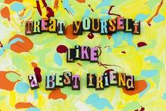 Treat yourself best friend bff friendship love royalty free stock photo