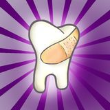 Treated Tooth. Probably after visiting  the dentist Stock Images