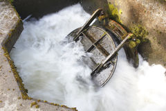 Treated water Discharge Stock Photo