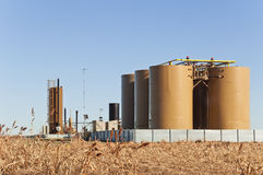 Treater And Tanks For Crude Oil And Condensate royalty free stock photos