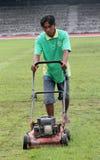 Treating grass Stock Photo