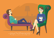 On treating a psychotherapist Royalty Free Stock Image