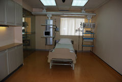 Treatment bed. This is a treatment bed in the hospital in China Stock Image
