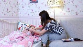 Treatment of childhood illness stock video